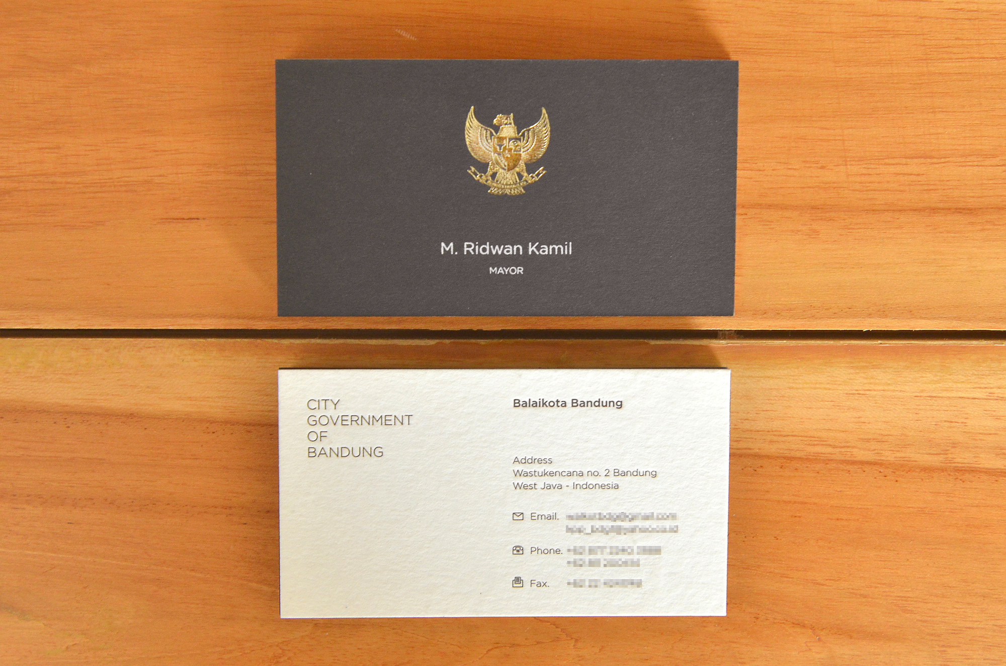 Ridwan Kamil Namecard on Business Portfolio